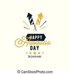 Happy Australia Day. 26 th January. Vector greeting card.