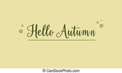 Happy Autumn falling leaves animation