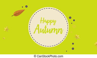 Happy Autumn falling leaves footage background