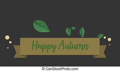 Happy autumn footage style background