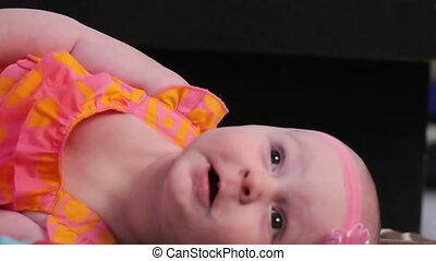 Happy baby girl smile