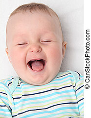 happy baby laughing
