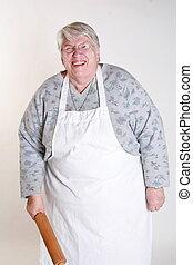 happy baking grandmother