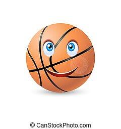 Happy basketball ball