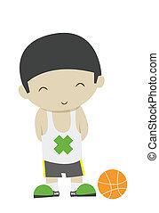 happy basketball boy player