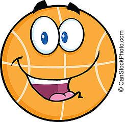 Happy Basketball Character
