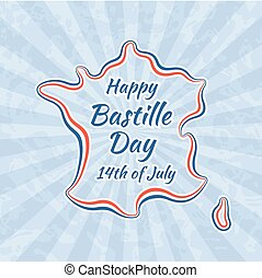 Happy bastille day 14th july french holiday happy vectors happy bastille day and 14th july m4hsunfo