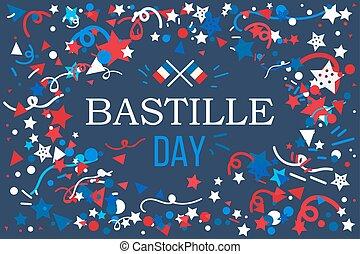 Happy bastille day eiffel tower sticker card in vector clip art happy bastille day m4hsunfo