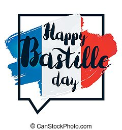 Happy bastille day and 14th july greeting card for french clip happy bastille day m4hsunfo