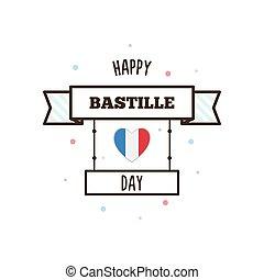 Happy Bastille Day. Vector illustration.