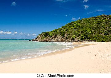 Happy Bay off coast of St Martin Caribbean - Happy Bay beach...