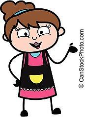 Happy Beautician Cartoon Illustration