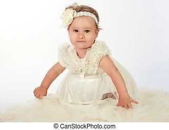 Happy beautiful baby girl