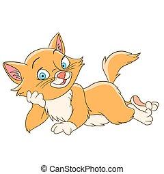 happy beautiful cat