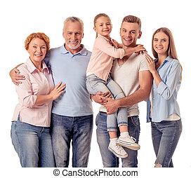 Happy big family