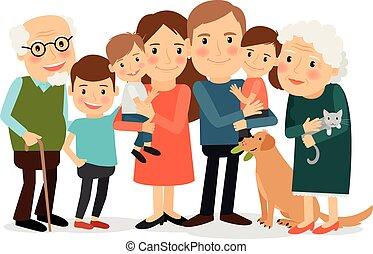 Happy big family portrait - Happy family portrait. Father...