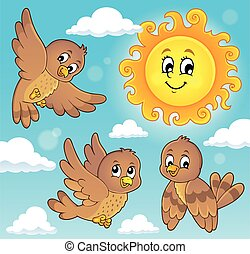 Happy birds theme image 5