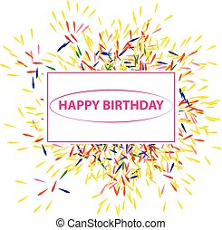 Happy birthaday label on white background