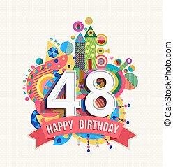 Happy birthday 48 year greeting car