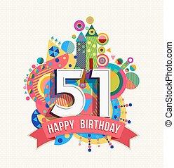 51 Geburtstag