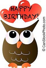happy birthday a sweet little owl
