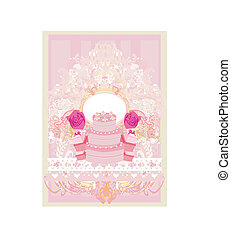 Happy Birthday - abstract floral greeting card