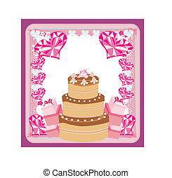 Happy Birthday - abstract greeting card