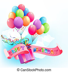 Happy birthday air balloons