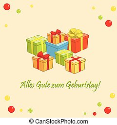 Happy birthday - Alles gute zum Geburtstag - vector greeting...