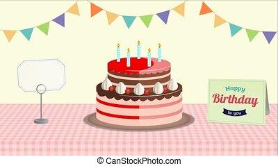 Happy Birthday Background. Animated happy birthday greeting