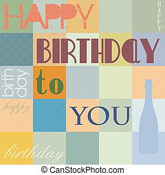 Happy Birthday background, vector