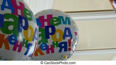 Happy Birthday Balloons at home.