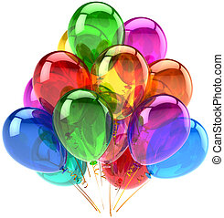Happy birthday balloons decoration