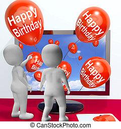 Happy Birthday Balloons Show Festivities and Invitations Online
