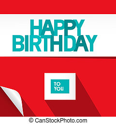 Happy Birthday Blue and Red Background