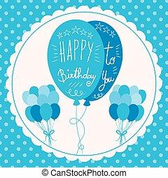 Happy Birthday Blue Balloons