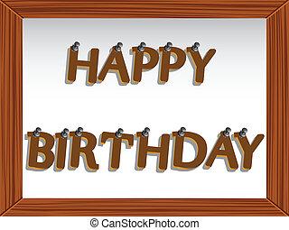 happy birthday board