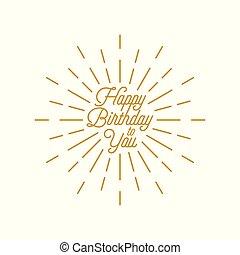 happy birthday burst vector icon