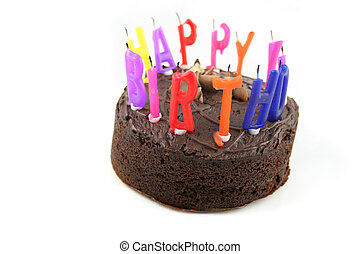 Happy Birthday - Cake 1 - Birthday Cake with Candles...