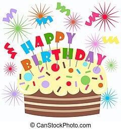 happy birthday -  happy birthday cake