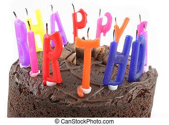 Birthday cake closeup Birthday cake modern style stock photo