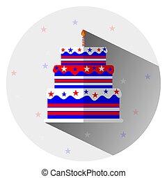 happy birthday cake with design happy president