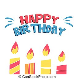 Happy Birthday Candle Light Background Vector Image