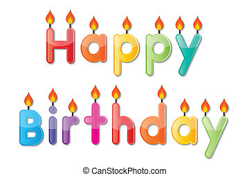 Birthday Candles Illustrations Royaltyfree Vector Graphics