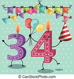 happy birthday candles cute numbers