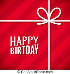 happy birthday card. Birthday gift box background
