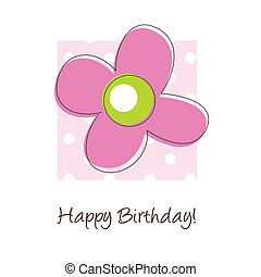 Happy birthday card - Cute card with copy space