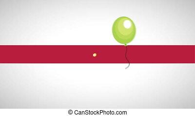 happy birthday card design, Video Animation HD1080