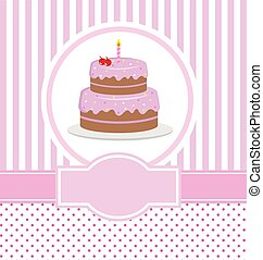 happy birthday card design with cake