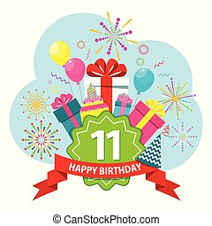 Eleventh birthday Vector Clipart EPS Images. 153 Eleventh ...